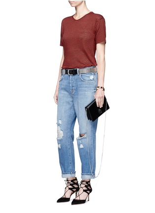 Figure View - Click To Enlarge - J Brand - 'Ivy' high rise distressed cropped jeans