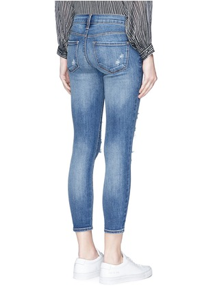 Back View - Click To Enlarge - J Brand - Distressed cropped skinny jeans