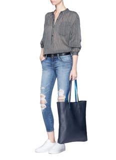 J BrandDistressed cropped skinny jeans