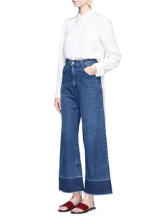 TibiCrisscross sash silk chica blouse