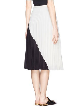 Back View - Click To Enlarge - WHISTLES - Ellie colour block plissé pleat midi skirt