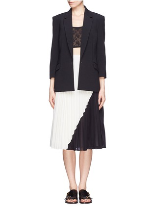 Figure View - Click To Enlarge - WHISTLES - Ellie colour block plissé pleat midi skirt