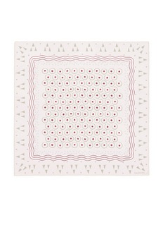 Valentino Geometric and circle print silk scarf