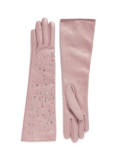 ValentinoEmbellished starry sky long leather gloves