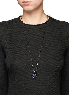 Eddie Borgo'Europa' agate cubic zirconia pendant chain necklace