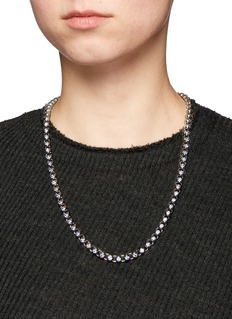Eddie Borgo 'Voyager' cubic zirconia beaded toggle necklace