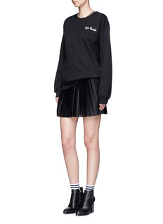TopshopPleated Airtex mesh mini skirt
