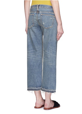 Back View - Click To Enlarge - Simon Miller - 'Aya' frayed cuff washed wide leg jeans