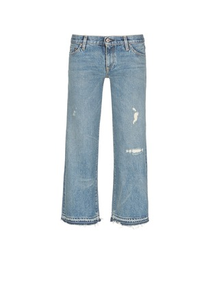 Main View - Click To Enlarge - Simon Miller - 'Aya' frayed cuff washed wide leg jeans