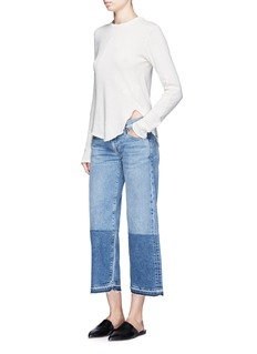 Simon Miller 'Thomas' colourblock patchwork cuff cropped jeans
