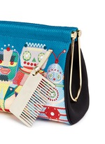 'Your Robot Maggie' embroidery clutch