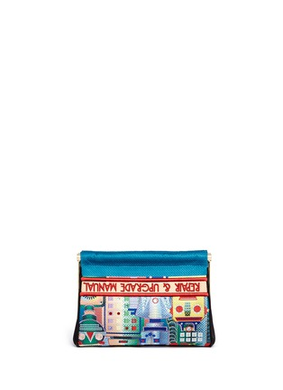 Back View - Click To Enlarge - Charlotte Olympia - 'Your Robot Maggie' embroidery clutch