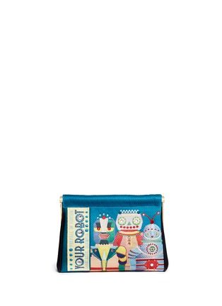 Main View - Click To Enlarge - Charlotte Olympia - 'Your Robot Maggie' embroidery clutch