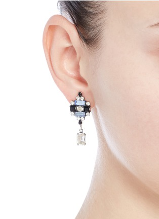 Figure View - Click To Enlarge - Dannijo - 'Aix' Swarovski crystal drop earrings