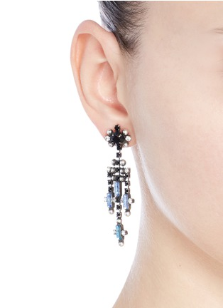 Figure View - Click To Enlarge - Dannijo - 'Adore' Swarovski crystal chandelier drop earrings