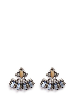 Dannijo - 'Sorrento' Swarovski crystal jacket earrings