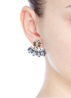 Dannijo'Sorrento' Swarovski crystal jacket earrings