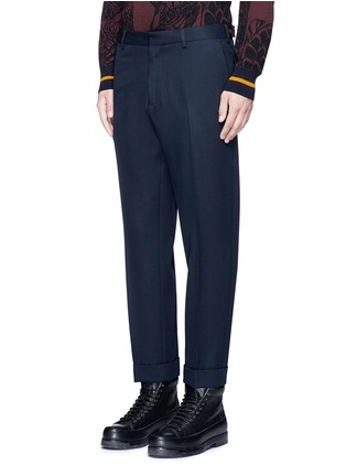 Front View - Click To Enlarge - Dries Van Noten - 'Philip' rolled cuff wool pants