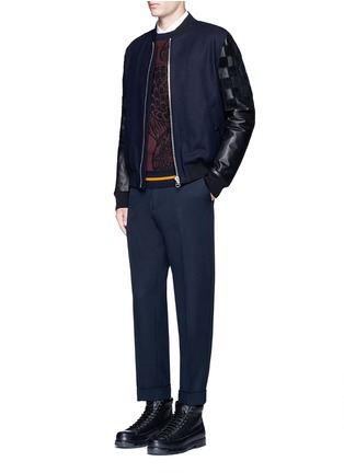 Figure View - Click To Enlarge - Dries Van Noten - 'Philip' rolled cuff wool pants