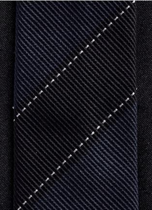 Detail View - Click To Enlarge - Dries Van Noten - Colourblock stripe silk tie