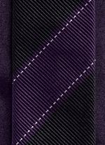 Colourblock stripe silk tie