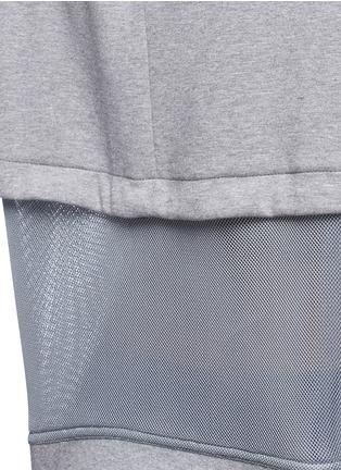 Detail View - Click To Enlarge - Nike - 'Tech Fleece Mesh Crew' sweatshirt