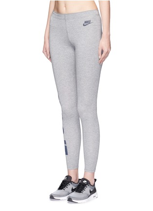 Front View - Click To Enlarge - Nike - 'Leg-A-See' slogan print sports leggings