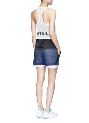 Figure View - Click To Enlarge - Nike - 'Nike Mesh' logo print tank top