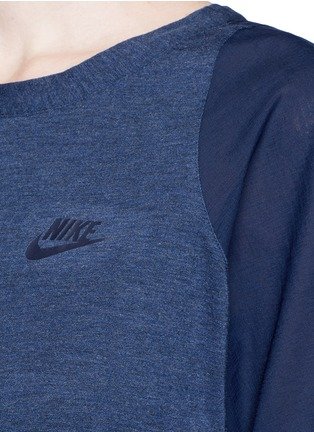 Detail View - Click To Enlarge - Nike - 'AS Nike Premium Pack' mesh underlay T-shirt