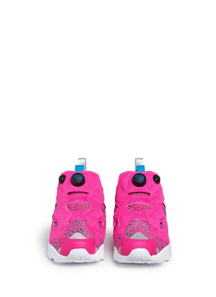 Front View - Click To Enlarge - Reebok - 'Instapump Fury Celebrate' slip-on sneakers
