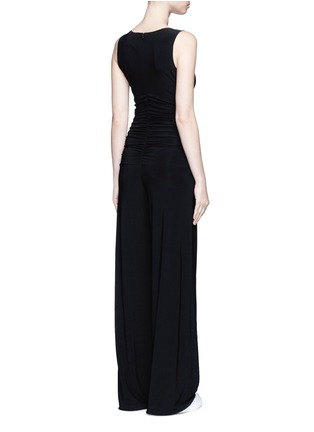 Back View - Click To Enlarge - Norma Kamali - Shirred waist jersey jumpsuit