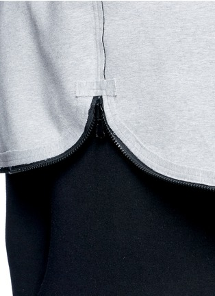 Detail View - Click To Enlarge - Norma Kamali - Reversible bonded jersey zip hoodie