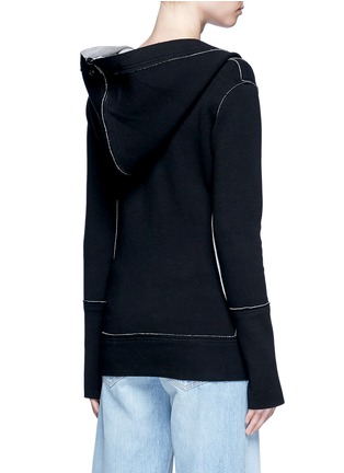 Back View - Click To Enlarge - Norma Kamali - Reversible bonded jersey zip hoodie