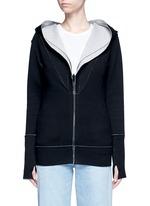 Reversible bonded jersey zip hoodie