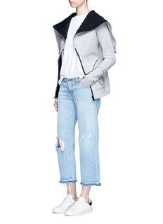 Norma KamaliReversible bonded jersey zip hoodie