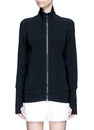 Main View - Click To Enlarge - Norma Kamali - 'Turtle' reversible bonded jersey jacket
