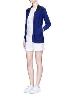 Norma Kamali'Turtle' reversible bonded jersey jacket