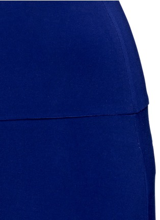 Detail View - Click To Enlarge - Norma Kamali - 'Straight Leg Pant Go' in Blueberry