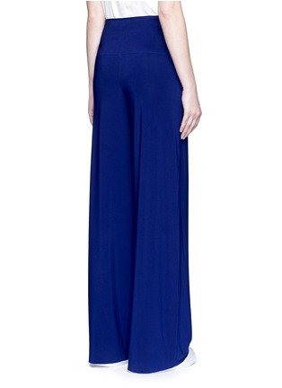 Back View - Click To Enlarge - Norma Kamali - 'Straight Leg Pant Go' in Blueberry