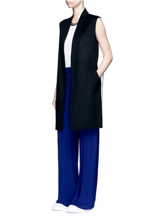 Figure View - Click To Enlarge - Norma Kamali - 'Straight Leg Pant Go' in Blueberry
