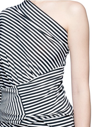 Detail View - Click To Enlarge - Norma Kamali - 'All In One Mini' stripe convertible jersey skirt top