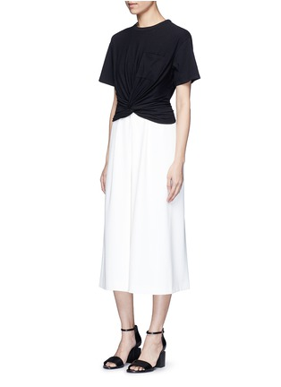 T By Alexander Wang - Twist front cropped T-shirt
