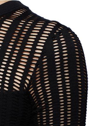 细节 - 点击放大 - T BY ALEXANDER WANG - 孔眼提花单色混棉连衣裙