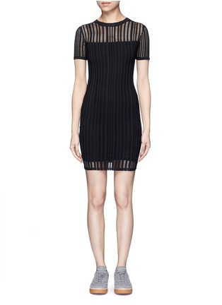 Main View - Click To Enlarge - T By Alexander Wang - Jacquard jersey dress