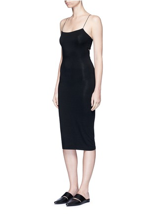 Front View - Click To Enlarge - T By Alexander Wang - Cutout back strappy camisole dress