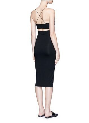 Figure View - Click To Enlarge - T By Alexander Wang - Cutout back strappy camisole dress