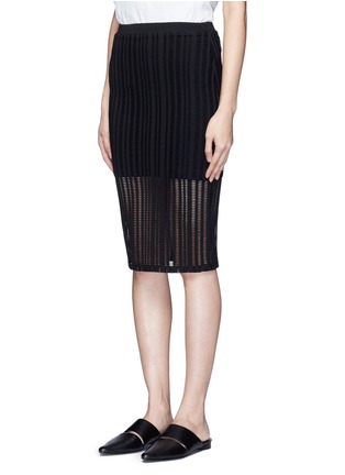 Front View - Click To Enlarge - T By Alexander Wang - Jacquard jersey pencil skirt
