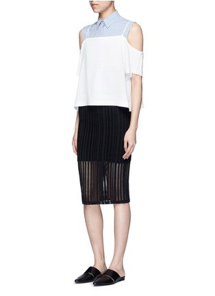 Figure View - Click To Enlarge - T By Alexander Wang - Jacquard jersey pencil skirt