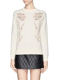 ALEXANDER MCQUEENFloral jacquard wool sweater