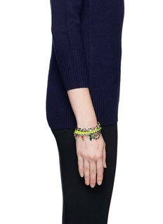 JOOMI LIMCotton braid crystal bracelet